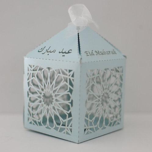 Pastel Blue Geometric Eid Mubarak Box