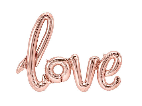 Rose Gold Love Balloon
