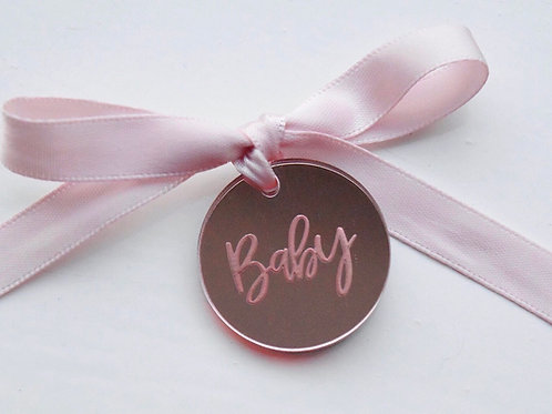 Rose Baby Tags