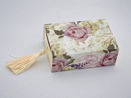 Vintage Rose Tassel Box