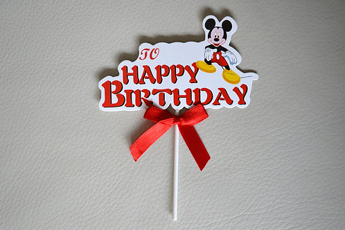 Mickey Mouse Happy Birthday Cake Topper