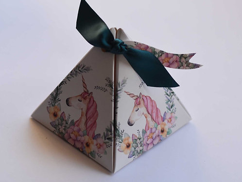 Enchanted Unicorn Pyramid Box