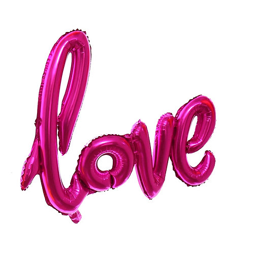 Hot Pink Love Balloon