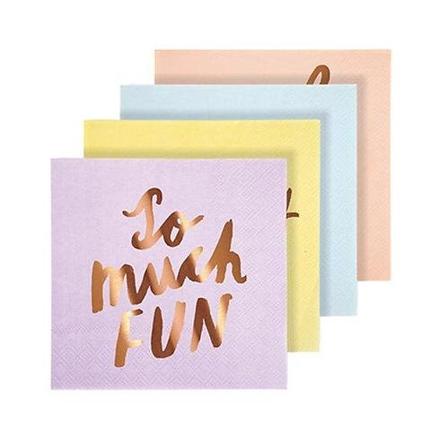 Typographic Napkins