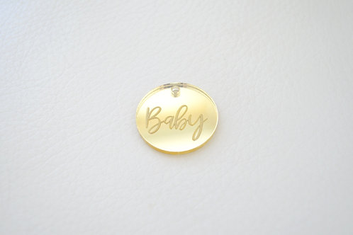 Gold Baby Tags