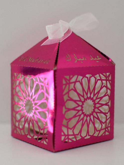 Pink Geometric Eid Mubarak Box