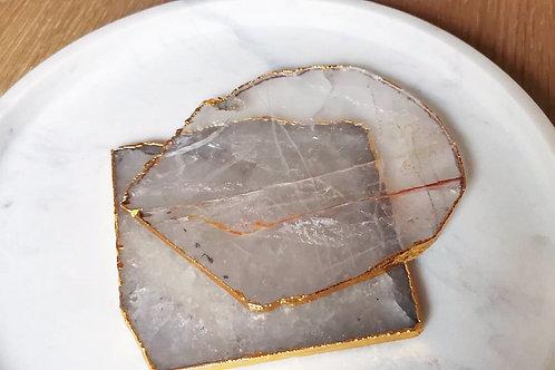 Crystal Quartz Agate Coaster