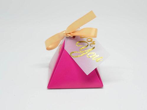 Fuchsia Pyramid Box