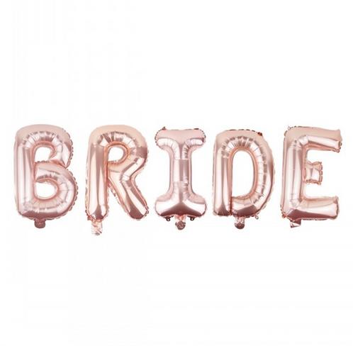 Rose Gold Bride Letter Balloons