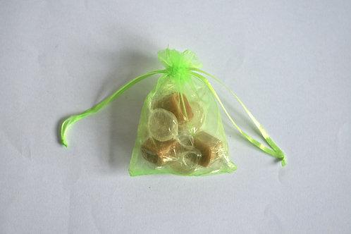 Lime Green Organza Drawstring Bag
