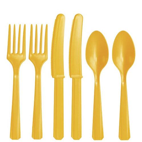 Sunflower Yellow Cutlery
