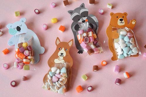 Cuddly Animal Sweet Card
