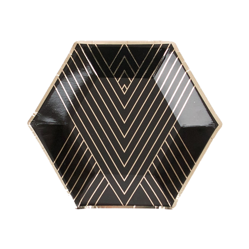 Black & Gold Plates