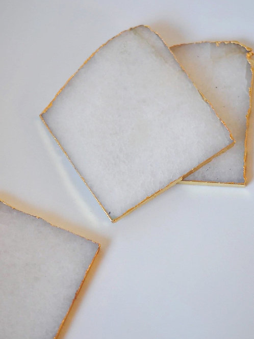 White Quartz Agate Coaster