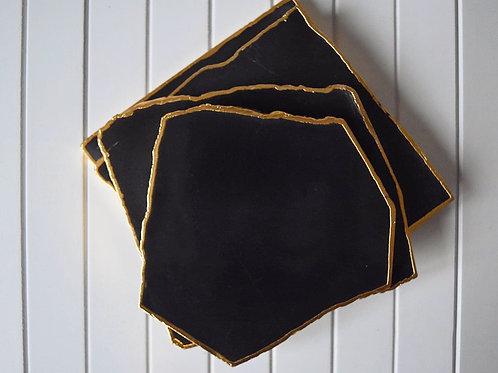 Black Agate Coaster