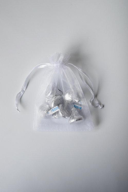 White Organza Drawstring Bag