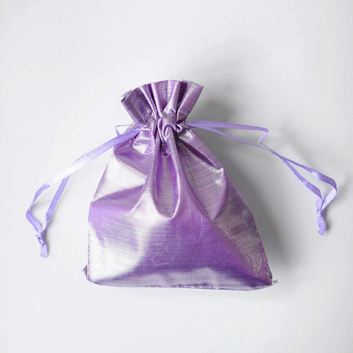 Light Purple Drawstring Bag