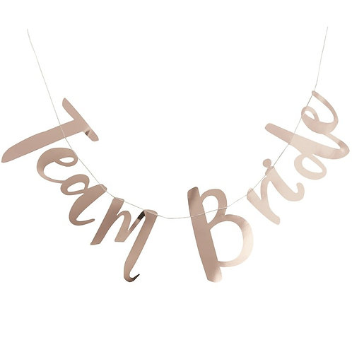 Rose Gold Team Bride Bunting