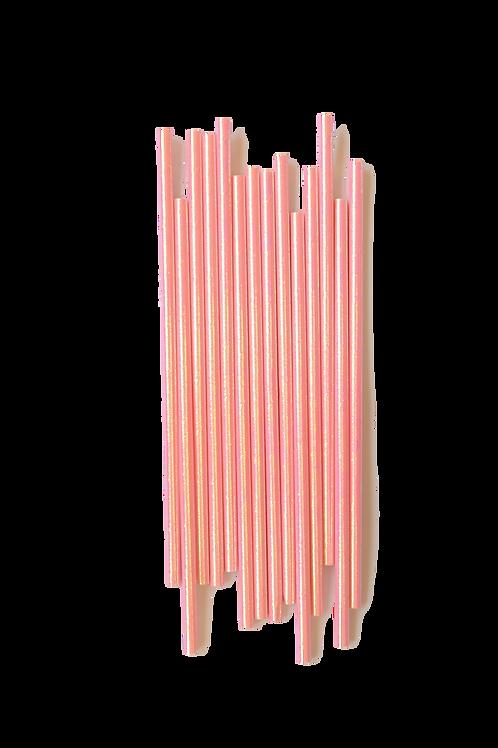 Pink Iridescent Straws