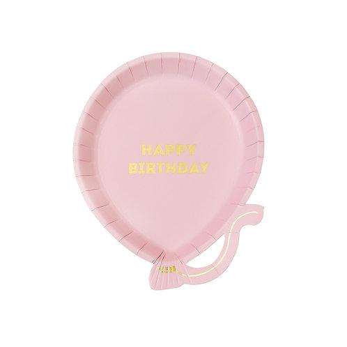 Pink Balloon Plates