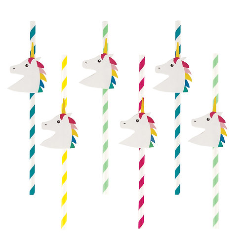 Rainbow Unicorn Straws