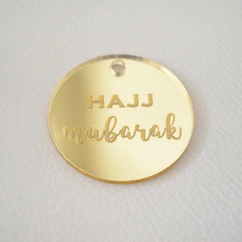 Gold Hajj Mubarak Tags (Large)