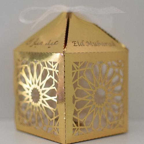 Gold Geometric Eid Mubarak Box