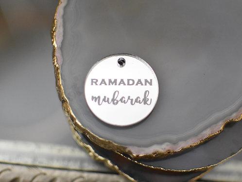 Silver Ramadan Mubarak Tag