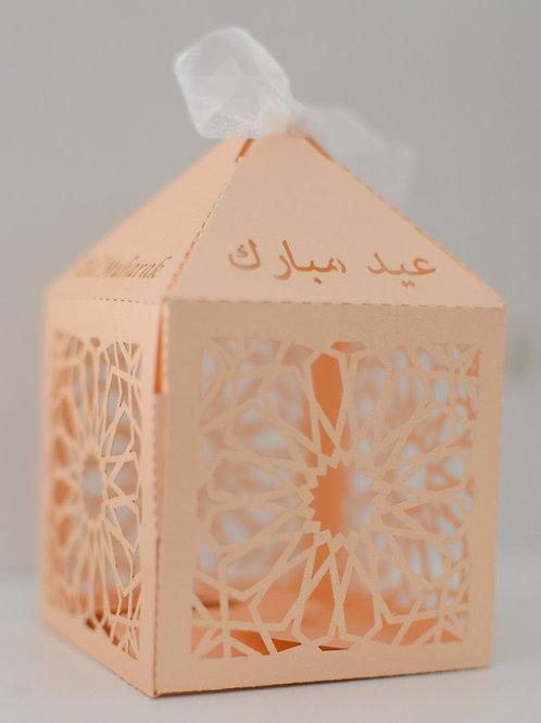 Peach Geometric Eid Mubarak Box