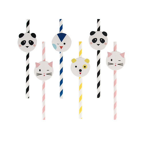 Mini Animals Straws