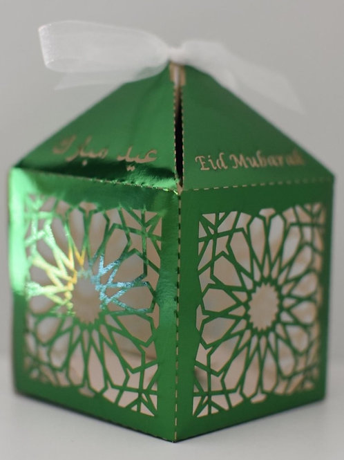 Green Geometric Eid Mubarak Box