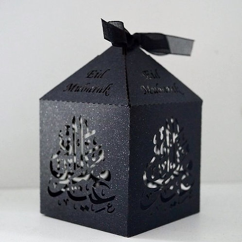 Black Calligraphy Eid Mubarak Boxes