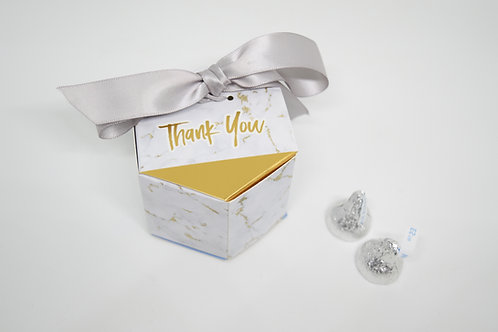 Marble Thank You Box