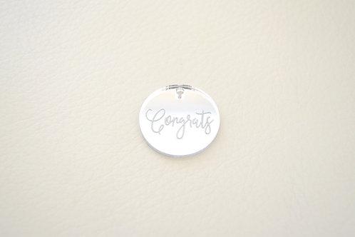 Silver Congrats Tags