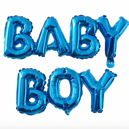 Baby Boy Letter Balloons
