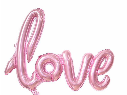 Pastel Pink Love Balloon