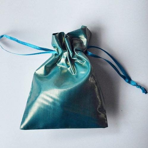Turquoise Drawstring Bag