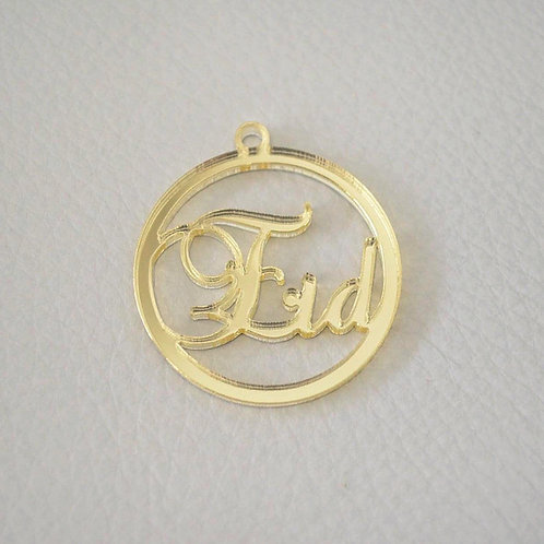 Gold Eid Calligraphy Tags
