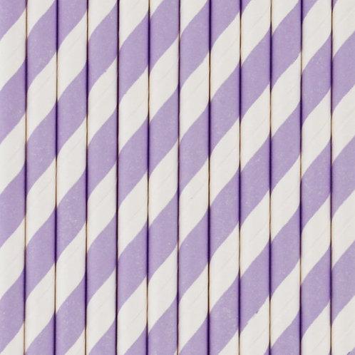 Lavender Stripe Straws