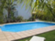 Private pool at Villa Marina