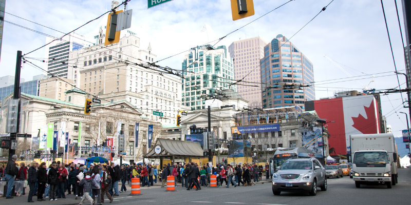 Robson Street, Vancouver Canadá