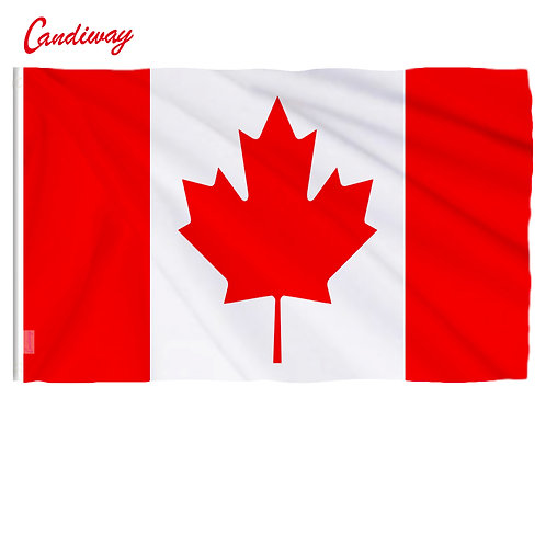 Large Flag Great Canadian Flag Banner Hundred Percent Polyester