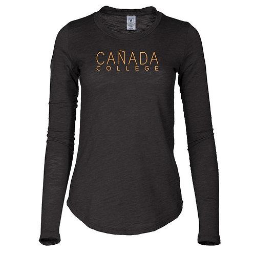 NCAA Canada College Colts 65a-Cc Women's Long Sleeve Slub Tee Shirt