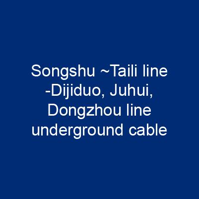 松樹~太利線分歧迪吉多、鉅輝、東周線地下電纜工程