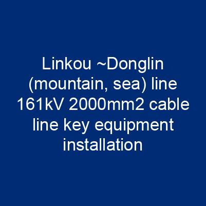 林口~東林(山、海)線161kV 2000mm2電纜線路關鍵性器材安裝工程