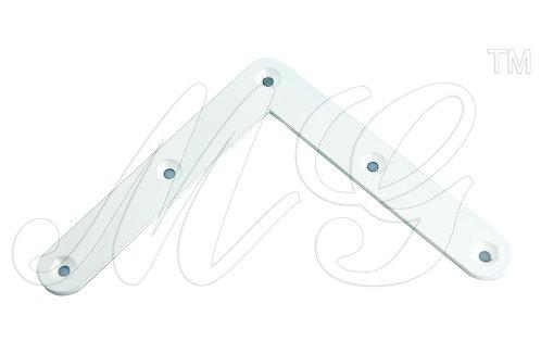 Уголок стальной белый для рамы