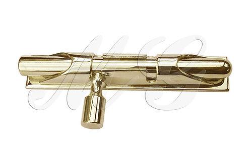 Шпингалет латунный Ø 10 мм., L=100 (прямой)
