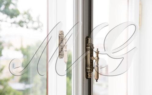 """Кремон (crémone, espagnolette) шпингалет на окна, двери """"Дворцовый ручка капля"""""""