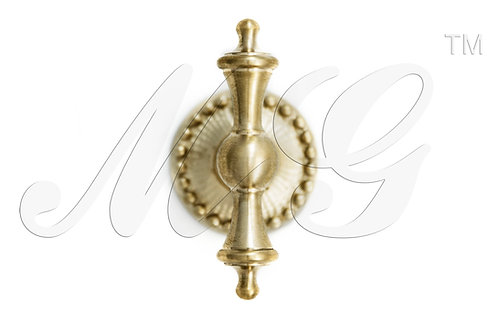 Ручка каминная Крест симметричная на розетке с бисером