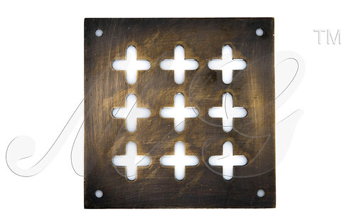 Решетка латунная 3 Крест